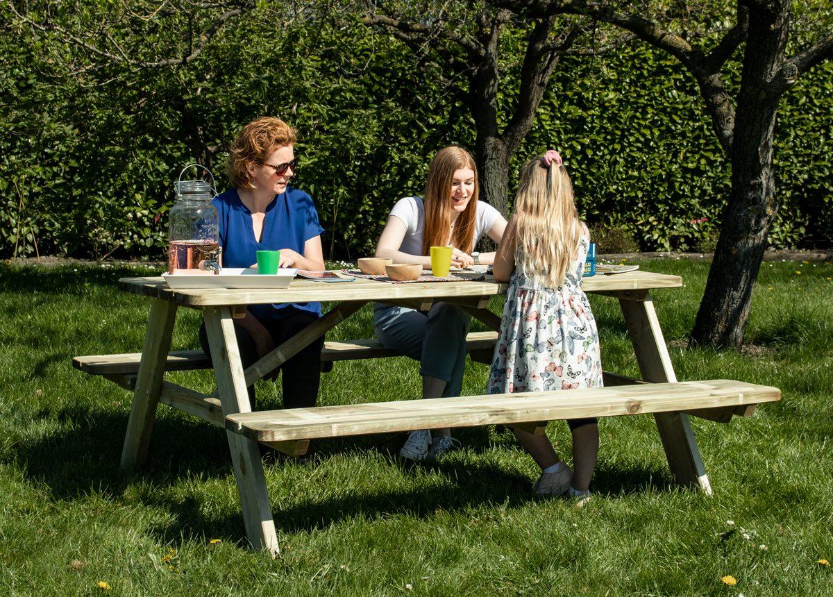 Beste Prijsshop Picknicktafel Grenen Solid 180 gezin