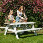 Beste Prijsshop Picknicktafel Grenen Basic Wit 150 gezin 2