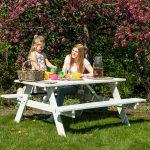 Beste Prijsshop Picknicktafel Grenen Basic Wit 150 gezin